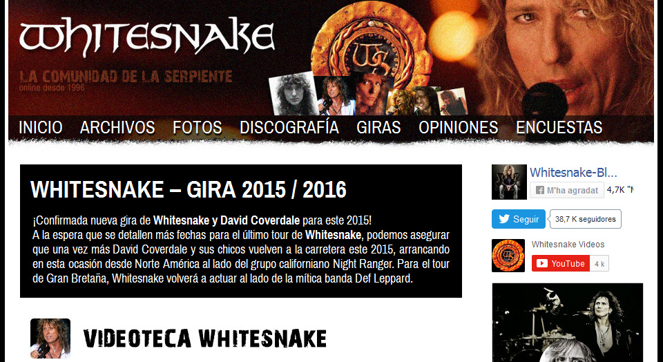 Web Whitesnake Blog